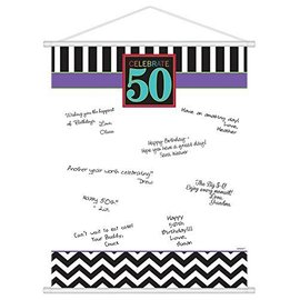Sign in Scroll - 50th Birthday-Plastic-24'' x 19''
