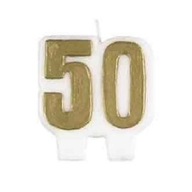 "Candle- 50th Birthday- 1pc (2.5"")"