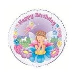 Foil Balloon - Happy Birthday Fairy - 18''