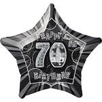 "Foil Balloon - Happy 70th birthday - 20"""