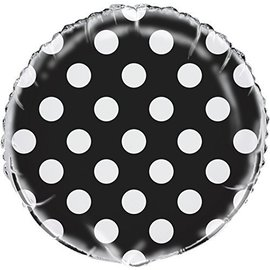 Foil Balloon - Dots - Midnight Black - 18""