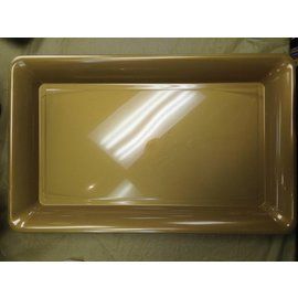 """Tray-Rectangle-Gold-Plastic-11""""x18"""""""