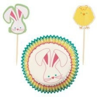 Baking Cups & Picks-Easter-24pkg