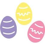"""Cutouts-Easter Eggs-3pkg-12"""""""