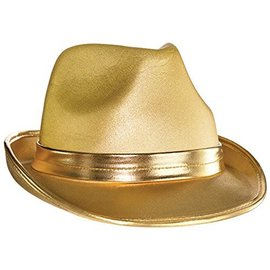 Fedora Hat-Gold-Fabric