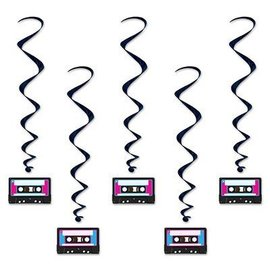 Danglers-Swirl-Cassette Tapes-5pkg-3.3ft