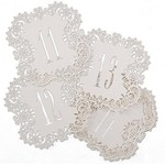 """Laser Cut Table Number Cards- White #11-20- 10pk (5.5""""x5.5"""")"""