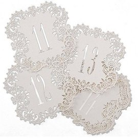 "Laser Cut Table Number Cards- White #11-20- 10pk (5.5""x5.5"")"