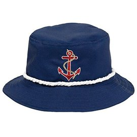 Hat-Nautical Bucket-Marine Blue-Fabric