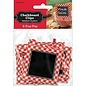 Chalkboard Clips-Red Gingham-Paper-8pk/3''