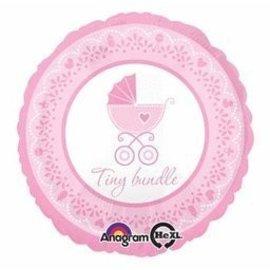 "Foil Balloon - Pink Tiny Bundle - 18"""