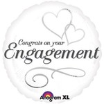 """Foil Balloon - Congrats on Your Engagement - 18"""""""