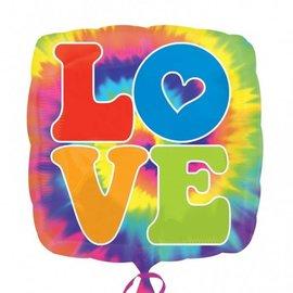 """Foil Balloon - Tie Dye Love - 18"""""""