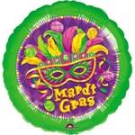 """Foil Balloon - Masquerade Mardi Gras - 18"""""""