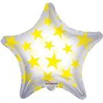 """Foil Balloon - Yellow Stars - 22"""""""