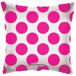 "Foil Balloon - Hot Pink Circles - 18"""