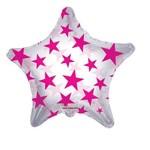 "Foil Balloon - Hot Pink Stars - 22"""