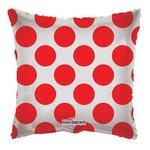 "Foil Balloon - Red Circles - 18"""