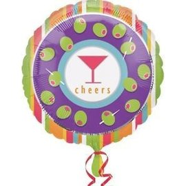 Foil Balloon - Cheers Cocktail Party - 18""