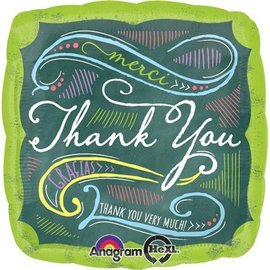 Foil Balloon - Thank You Chalkboard - 18""