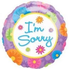 "Foil Balloon - I'm Sorry Flowers - 18"""