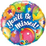 """Foil Balloon - You'll Be Missed Balloons - 18"""""""