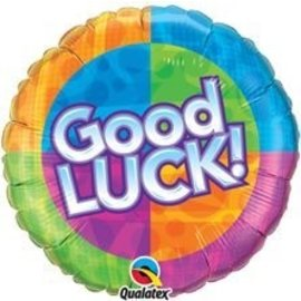 """Foil Balloon - Good Luck Dots and Stars - 18"""""""
