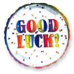 "Foil Balloon - Good Luck Confetti - 18"""