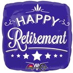 """Foil Balloon - Happy Retirement Blue - 18"""""""