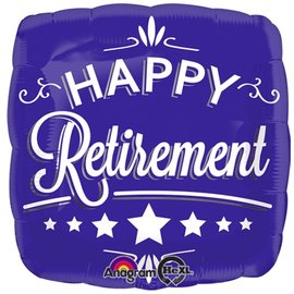Foil Balloon - Happy Retirement Blue - 18""