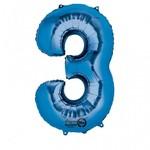 """Foil Balloon - Blue #3 - 20""""x34"""""""