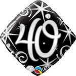 """Foil Balloon - Elegant 40 Sparkle - 18"""""""