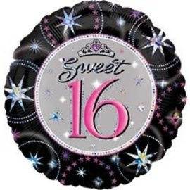 Foil Balloon - Sweet 16 Sparkle - 18""