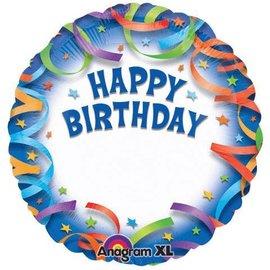 "Foil Balloon - Customizable - Happy Birthday Streamers - 18"""