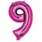 "Foil Balloon - Pink - #9 - 22""x34"""
