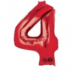 """Foil Balloon - Red - #4 - 24""""x36"""""""