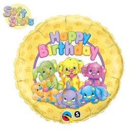 Foil Balloon - Soft Spots Birthday - 18""