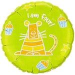 "Foil Balloon - I Am Four Party Cat - 18"""