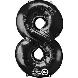 """Foil Balloon - Black #8 - 21""""x34"""""""