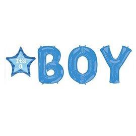 Foil Balloons-5 Balloon Letter Bunch-It's a Boy