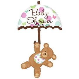Foil Balloon-Supershape-Umbrella Bear-Baby-Shower