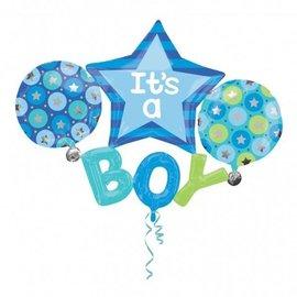 Foil Balloon-Supershape-5 Piece It's a Boy Banner