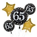 "Foil Balloons-  ""65th"" Birthday Bouquet-Sparkling-5pk"