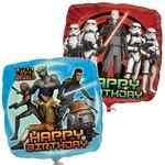 "Foil Balloon - Stars Wars Rebel Happy Birthday - 18"""