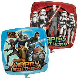 Foil Balloon - Stars Wars Rebel Happy Birthday - 18""