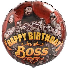 "Foil Balloon - Duck Dynasty Birthday Boss - 18"""