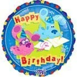 Foil Balloon - Blue's Clues Happy Birthday - 18""