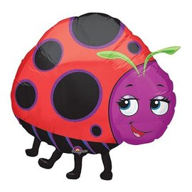 "Foil Balloon - Miss Ladybug - 36"""