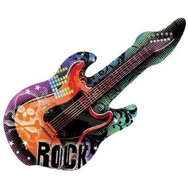 Foil Balloon-Supershape-Rock Star Guitar