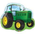 Foil Balloon-Supershape-Green Farm Tractor